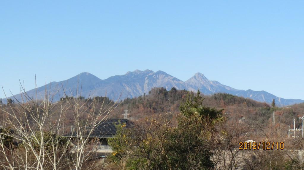 八ヶ岳の遠望